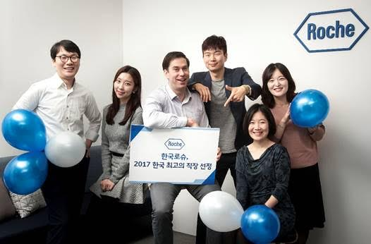 Roche Korea is Korea's 8th-best employer this year