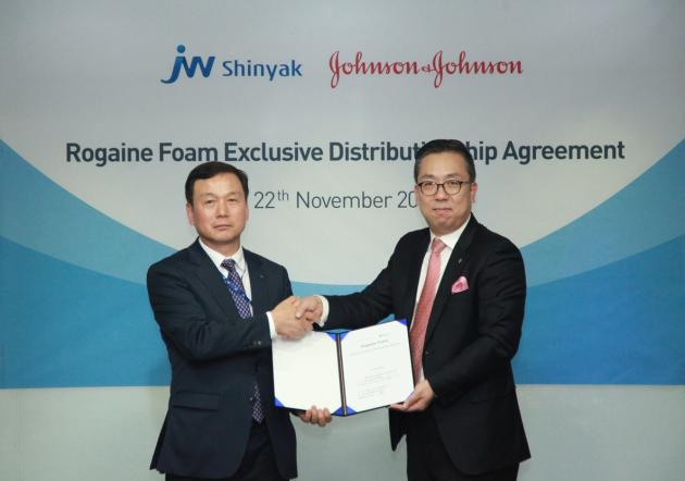 JW Shinyak to sell J&J's hair loss treatment in Korea