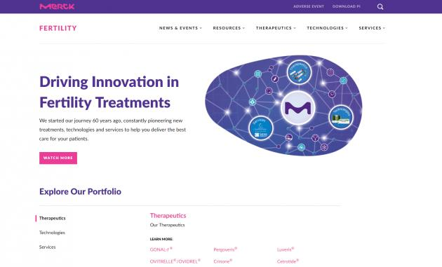 Merck launches website specializing in infertility