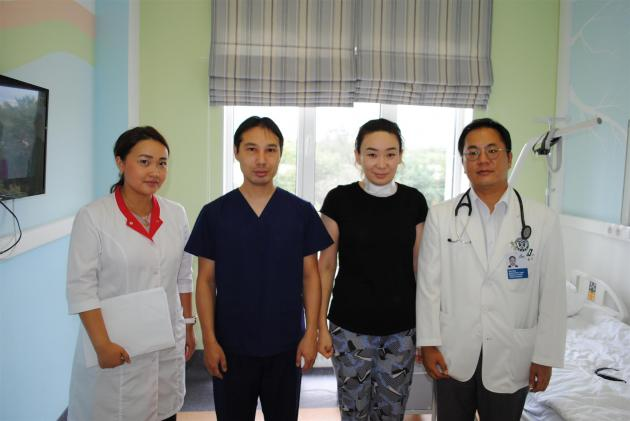 Gangnam Severance completes 1st operation at platform clinic in Kazakhstan