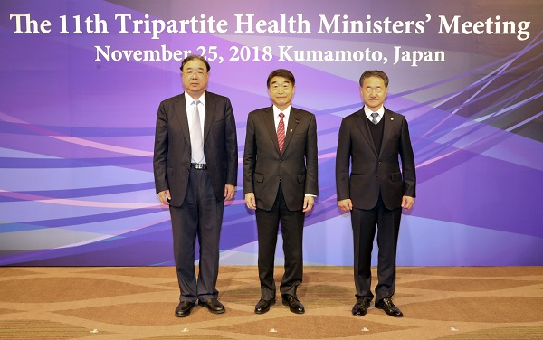 Korea, China, Japan to continue to cooperate on healthcare