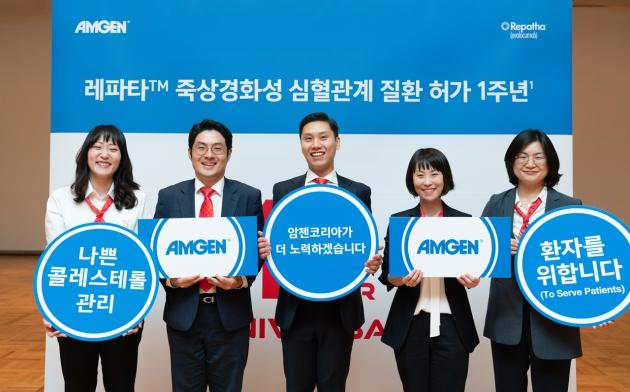 Amgen fetes 1st anniversary of getting expanded indication for Repatha